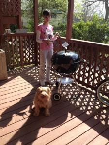 Shelly & Sugar love b-b-q season!